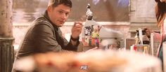 Dean flirting with pie will never grow old.
