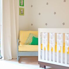 bright yellow + green nursery