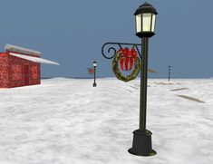 Check out the Street Lights all festive for Christmas on Snow Island 3D Browsing at Walk the Web!