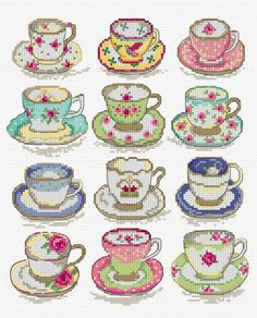 A beautiful Lesley Teare cross stitch pattern, find her on fbook great page Cross Stitch Kitchen, Mini Cross Stitch, Cross Stitch Heart, Cross Stitch Borders, Modern Cross Stitch Patterns, Cross Stitch Designs, Cross Stitching, Cross Stitch Embroidery, Embroidery Patterns