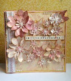 'Golden Wild Rose' #craft #handmade #card #cardmaking #papercraft #floral #rose #spritzing
