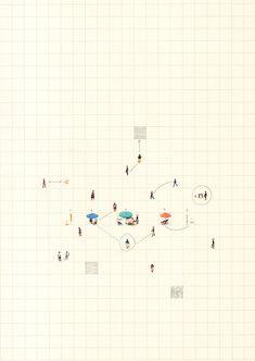 home design drawing Design-Image: Felipe Bedoya Layout Design, Design Art, Artwork Design, Interior Design, Architecture Collage, Architecture Graphics, Portfolio Design, Urban Design Diagram, Art Graphique