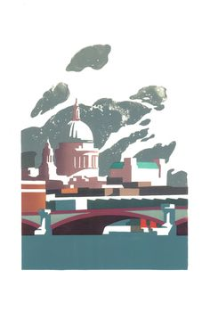 Limited edition linocut print St Pauls by contemporary British printmaker Paul Catherall. Commissiioned by Orion Books for a Michael Moorcock cover Linocut, Linocut Prints, Painting, A Level Art, Illustration Art, Art, Screen Printing Art, London Art, Prints