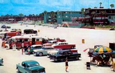 In the 1950s, you could actually drive out and onto Daytona Beach, Florida.