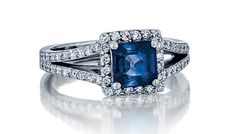 - 14K SAPPHIRE 1.50CTS AND DIAMOND .39CTS RING $2,700 (PRSPR08127)