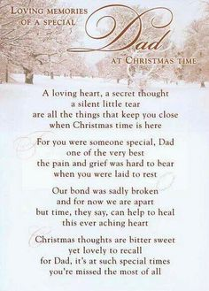 Merry Christmas Dad I miss and love you with all my heart♥♥♥♥