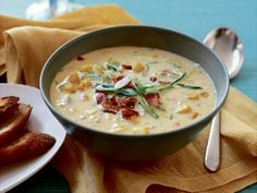 Smoky Corn Chowder is ready in just 45 minutes, with only 25 minutes of hands-on prep time.