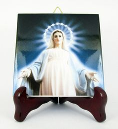 Religious icons - Our Lady of Medjugorje - Catholic Art - Christian gift - Queen of Peace - Virgin Mary art - catholic wall hanging