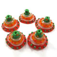 hhLampwork beads glass set Lampwork Beads set lampwork by gaialai, $25.00