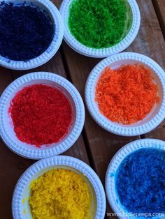 How to colour dye rice Iddle Peeps