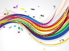abstracte kleurrijke golf achtergrond met muziek illustratie Stockfoto - 16578778