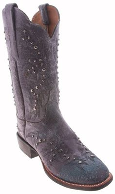 Great Lucchese Cowgirl 'CY2502.W8S' Calfskin Boots Womens - Grey