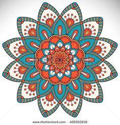 Flower Mandalas. Vintage decorative elements. Oriental pattern, vector illustration. Islam, Arabic, Indian, turkish, pakistan, chinese, ottoman motifs - stock vector