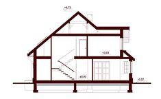 Przekrój DN Magnolia CE Beautiful Small Homes, Bungalow House Plans, Micro House, Magnolia, Building A House, Photos, 1, Cottage, House Design