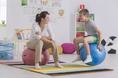 Therapy balls may improve behavior of ASD students in class | Autism Research Institute