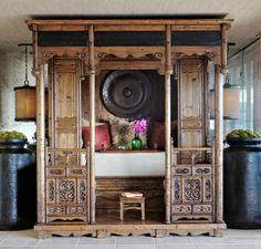 Martyn Lawrence Bullard — Portfolio Can you imagine?! Having your altar inside this beautifully carved ornate Indian-style piece. That would be incredible! :)