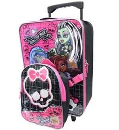 Monster High Kids Backpack and Rolling Luggage - Perfect for Sleepovers or Travel! ** Read more at the image link. (This is an affiliate link) My Little Pony Princess, Princess Luna, Girls Luggage, Daisy Marie, Monster High School, Barbie Doll Set, Back To School Backpacks, Scene Kids, Emoji