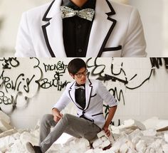 love the look, especially the disco bow tie!  not sure if i could pull off the disco bow tie though (lookbook mike Q)