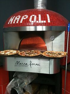 Marra Forni -- Pizza ovens from Naples Italy. Same oven at Pizzeria 3301. At Villa Palermo