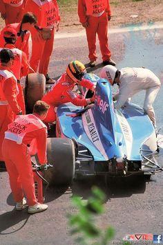 1992 Erik Comas-Ayrton Senna-Spa    www.gamedaymens.com