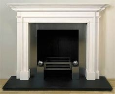 The Blenheim limestone fireplace is based on a Queen Anne design, one of the most popular models we have and is available in marble and multiple sizes. Limestone Fireplace, Marble Fireplaces, Slate Hearth, Log Burner, Queen, Master Bedroom, New Homes, Marbles, House