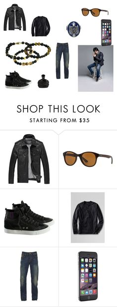"""""""Monday"""" by alecrsutton on Polyvore featuring Ray-Ban, Lands' End, Superdry, John Varvatos, men's fashion and menswear"""
