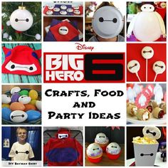 Big Hero 6 Crafts, Food and Party Ideas - Sippy Cup Mom - Diy Poject Ideas Hero Crafts, Crafts To Do, Inexpensive Birthday Party Ideas, Big Hero 6 Party Ideas, Backyard Movie Party, Girl Superhero Party, Adult Birthday Party, 3rd Birthday, Birthday Ideas