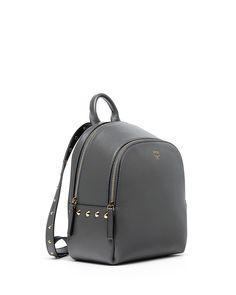 MCM Duchess Side-Stud Mini Backpack, Mono Gray