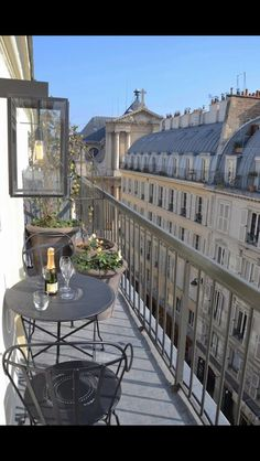Fermob vignette - Louvre chairs and Floreal table - beautiful balcony view and furniture in paris | outdoor furniture, patio furniture, cafe table