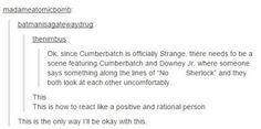 When Sherlocks collide -- i'm actually very OK with Cumberbatch as Strange. but this is some funny shit Marvel Avengers, Marvel Comics, Avengers Memes, Marvel Memes, Mrs Hudson, Fandom Crossover, Fandoms, Dc Movies, Johnlock