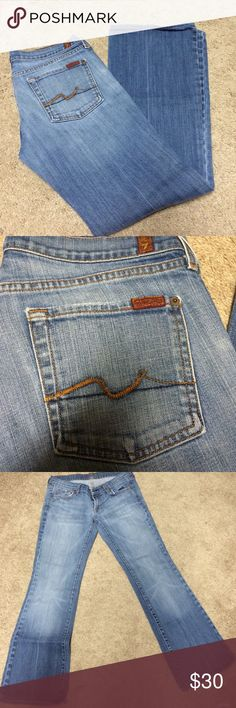 Seven for all mankind boot cut jeans Good used condition. No stains, rips, etc. 7 for all Mankind Jeans Boot Cut