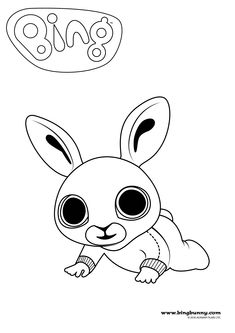 Bunny Coloring Pages, Printable Coloring Pages, Colouring Pages, Coloring Sheets, Coloring Books, Bunny Birthday, 2nd Birthday, Birthday Ideas, Bing Bunny