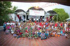 Todo el grupo de participantes en la feria regional