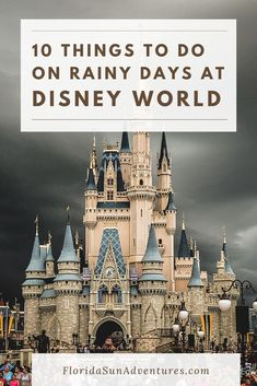 Don't let your day be ruined at Walt Disney World by rain. There are still plenty of other things to do at Walt Disney World when it rains. Here are 10 of our favorite things to do to stay dry and still have a magical day! Disney World Secrets, Disney World Parks, Disney World Tips And Tricks, Disney Tips, Disney Fun, Disney Magic, Disney Worlds, Disney Travel, Disney World Vacation Planning