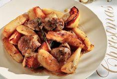 Μαριναρισμένο χοιρινό με μελωμένες πατάτες και κυδώνια-featured_image