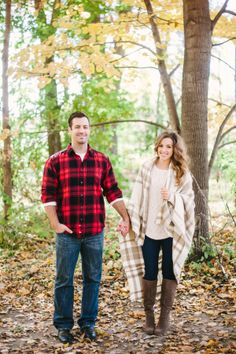 Cozy Engagement Session with Saffron Avenue Gallery - Style Me Pretty