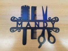 Hair Stylist metal wall art plasma cut decor