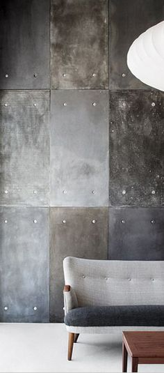 This industrial wall paneling is inspired from latest interior trend Neo Goth. It tells a darkly romantic story filled with mystery and enchantment. Baroque elements are seen among a contemporary setting, exploring a hidden darkness that exudes an air of mystique.