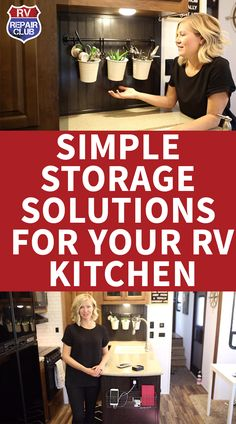 Simple storage solutions for camper kitchens to maximize space Motorhome repair club – Kitchen Furniture Storage Kitchen Storage Solutions, Diy Kitchen Storage, Rv Storage, Furniture Storage, Kitchen Furniture, Camper Kitchen, Smeg Kitchen, Kitchen Wrap, Rv Organization