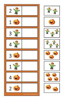 By Autismespektrum. Fall Preschool, Preschool Learning Activities, Kindergarten Math, Kids Learning, Space Activities, Numbers Preschool, Preschool Printables, Halloween Math, Halloween Activities