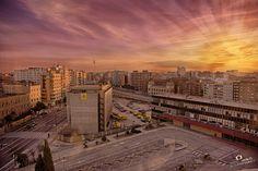 Atardecer antigua Estacion del Portillo Zaragoza - Adrian Sediles