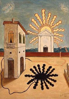 Giorgio de Chirico (1888-1978) : Tempio del sole, 1971 , Musée d'Art Moderne de la Ville de Paris, donato nel novembre 2011 dalla vedova Isabella Pakszwer Far, in riconoscimento dell'importante ruolo che la città di Parigi ha svolto nella vita professionale e privata dell'artista .Il lascito comprende 30 quadri, 20 disegni e 11 sculture .