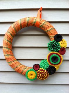 Thanksgiving Themed Wreath Ideas
