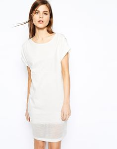 Image 1 ofY.A.S Claudie Dress with Burn Out Hem Detail