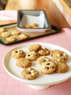 Thermomix Biscuits - Kinda Healthy Choc Chip Cookies Recipe from The 4 Blades. #the4blades #thermomix #thermomixrecipes