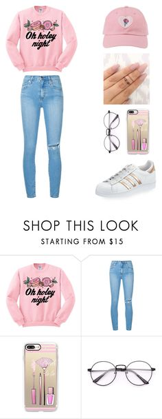 """""""Sin título #375"""" by vidajuliana7 ❤ liked on Polyvore featuring Junk Food Clothing, Nobody Denim, Casetify and adidas"""
