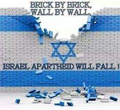 BRICK BY BRICK - WALL BY WALL - ISRAEL APARTHEID WILL FALL . #IsraelIsaWarCriminal #FreePalestine --Terrorism- #Terrorists -#TerroristStates.