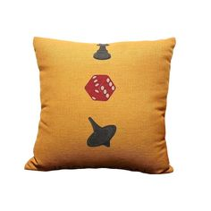 Movie Inseption Theme Top And Dice Print Yellow Decorative Pillows Linen Throw Pillows/Cushion Pillow 45x45CM