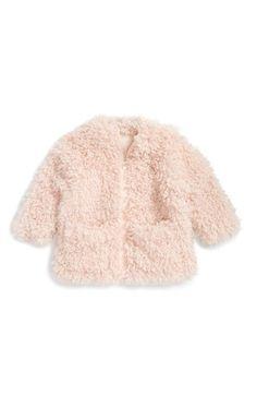Stella McCartney Kids 'Sparkles' Faux Fur Coat (Toddler Girls)