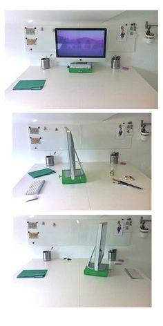 Moveable IMAC on a LACK. Simply brilliant idea!